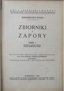 Zbiorniki i zapory 1934 r