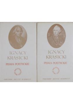 Krasicki Pisma poetyckie tom I i II