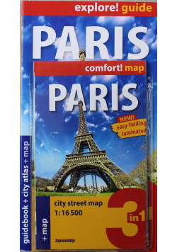 Paris guidebook and city atlas and map