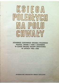 Księga Poległych Na Polu Chwały 1943  1945