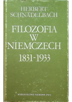 Filozofia w Niemczech 1831 1933