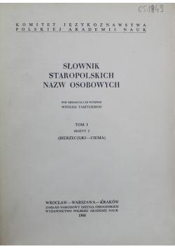 Słownik staropolskich nazw osobowych Tom I Zeszyt 2
