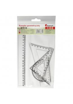 Komplet geometryczny 20cm 4 elementowy