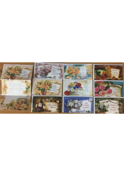 Karnet List Urodziny + koperta Panorama