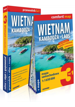 Wietnam Kambodża Laos 3w1 Przewodnik + atlas + mapa