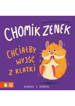 Chomik Zenek chciałby wyjść z klatki