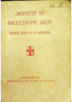 Manete in dilrctione mea serce Jezusa a kapłan 1925r wersja kieszonkowa
