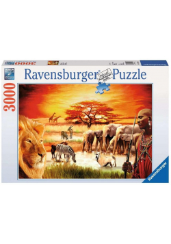 Puzzle 3000 Sawanna Masajów