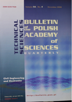 Bulletin of the Polish Academy of Sciences Technical Sciences Vol 54 No 4