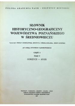 Słownik historyczno - geograficzny województwa poznańskiego w średniowieczu część 1 zeszyt 4