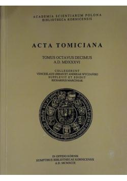 Acta Tomiciana Tomus Octavus Decimus