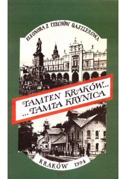 Tamten Kraków... Tamta Krynica wyd.3
