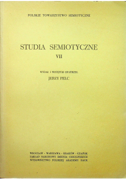 Studia semiotyczne VI