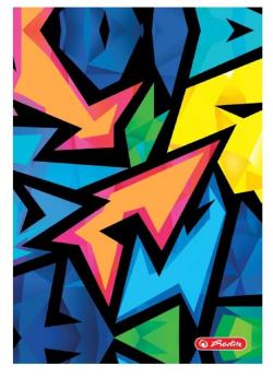 Brulion A5/96K kratka Neon Art (5szt)