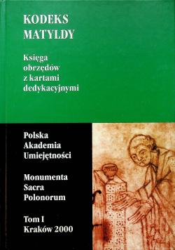 Kodeks matyldy księga obrzędów z kartami dedykacyjnymi