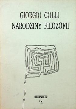 Narodziny filozofii