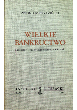 Wielkie bankructwo