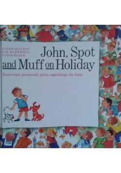 John Spot and Muff on Holiday Ilustrowany podręcznik języka angielskiego dla dzieci