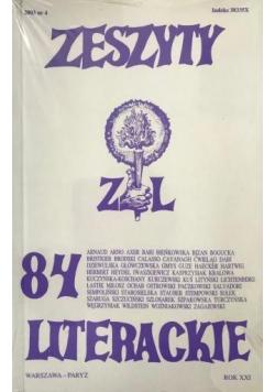 Zeszyty literackie 84 4/2003