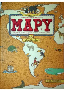 Mapy obrazkowa podróż po lądach morzach i kulturach świata Edycja pomarańczowa