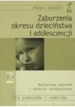Zaburzenia okresu dzieciństwa i adolescencji