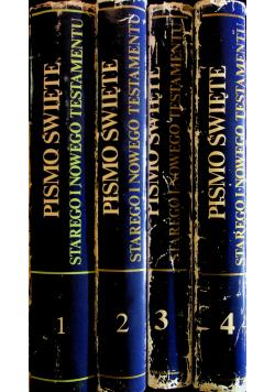Pismo Święte Starego i Nowego testamentu 4 Tomy