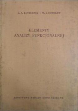 Elementy analizy funkcjonalnej