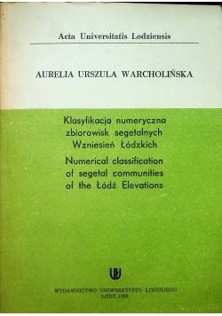 Klasyfikacja numeryczna zbiorowisk segetalnych