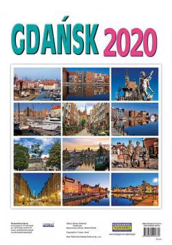 Kalendarz ścienny 2020. Gdańsk