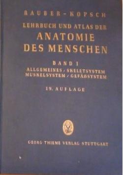 Lehrbuch und Atlas der Anatomie des Menschen Band I