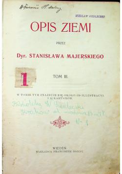 Opis ziemi tom III około 1900 r.