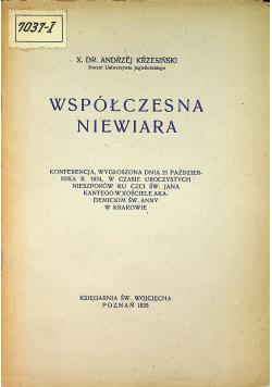 Współczesna niewiara 1935 r