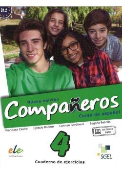 Companeros 4 ćwiczenia + licencia digital
