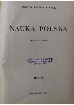 Nauka polska kwartalnik Rok IV nr od 1 do 4