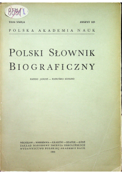 Polski słownik biograficzny Tom XXIX/ 4 zeszyt 123
