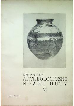 Materiały archeologiczne Nowej Huty VI