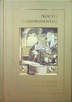 Noctes iurisprudentiae scritti in onore di Jan Zabłocki