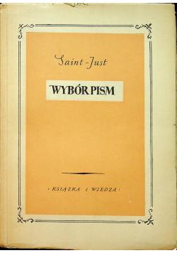Saint Just Wybór pism