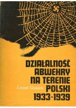 Działalność Abwehry na terenie Polski 1933-1939