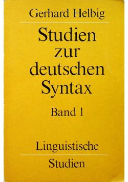 Studien zur deutschen syntax