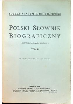 Polski Słownik Biograficzny Tom II