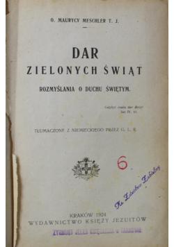 Dar zielonych świąt Rozmyślania o Duchu Świętym 1924 r.
