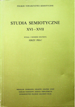 Studia semiotyczne XVI - XVII