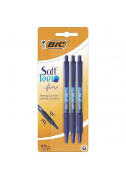 Długopis niebieski Soft Feel bls 3szt BIC