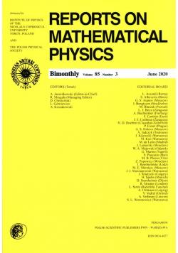 Reports on Mathematical Physics 85/3 Pergamon