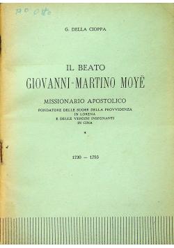 El Beato Giovanni Martino Moye 1730 - 1793
