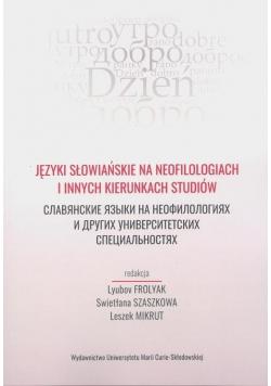 Języki słowiańskie na neofilologiach i innych...