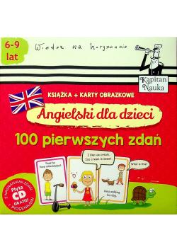 Angielski dla dzieci 100 pierwszych zdań  Książka plus Karty obrazkowe