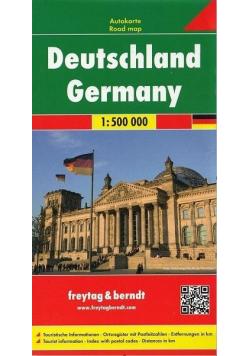 Mapa samochodowa - Niemcy 1 :  500 000
