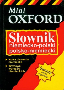 Słownik niemiecko polski polsko niemiecki Miniatura